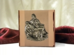 Rose Gold Cubic Cremation Urn with Stainless Steel Pieta