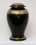 Cremation Urn with Black Pebbled Finish
