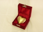Brushed Brass, Heart-Shaped Keepsake Urn