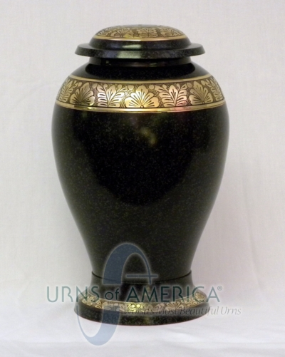 Cremation Urn with Black Pebbled Finish - Click Image to Close