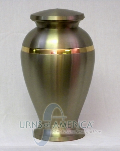 Cremation Urn with Brushed Stainless Steel Finish - Click Image to Close