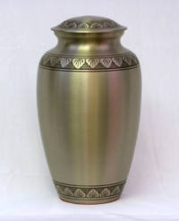 Brushed Pewter Cremation Urn