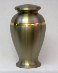 Cremation Urn with Brushed Stainless Steel Finish