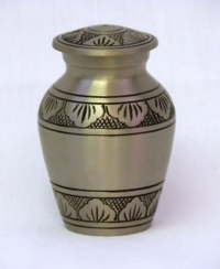Brushed Pewter Keepsake Cremation Urn